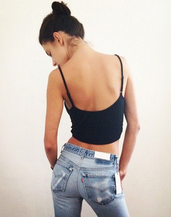 The New It-Jean That's Worth The Wait List (vintage jeans re-done/modern fit)