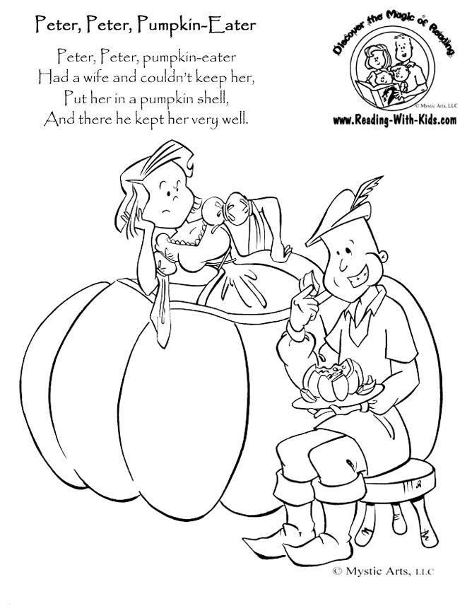 48 best images about nursery rhymes for preschoolers on for Rhyming coloring pages