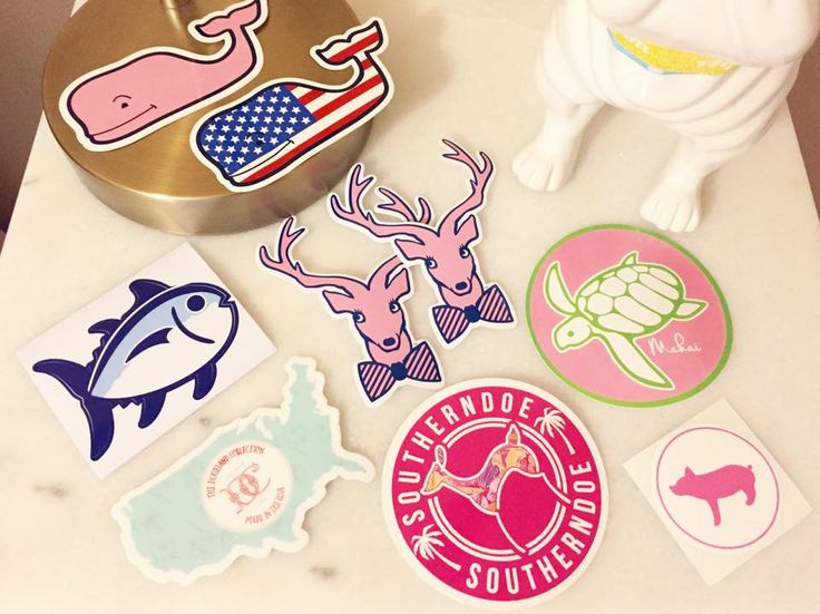 How to get tons of FREE preppy stickers + a giveaway!