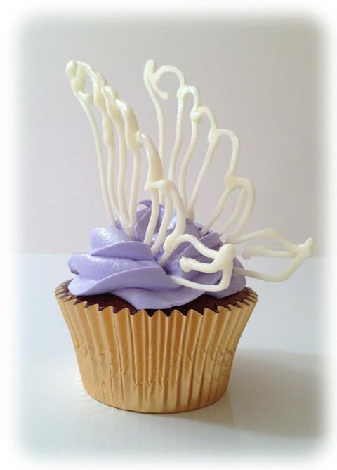 Chocolate Fairy wings cupcake toppers