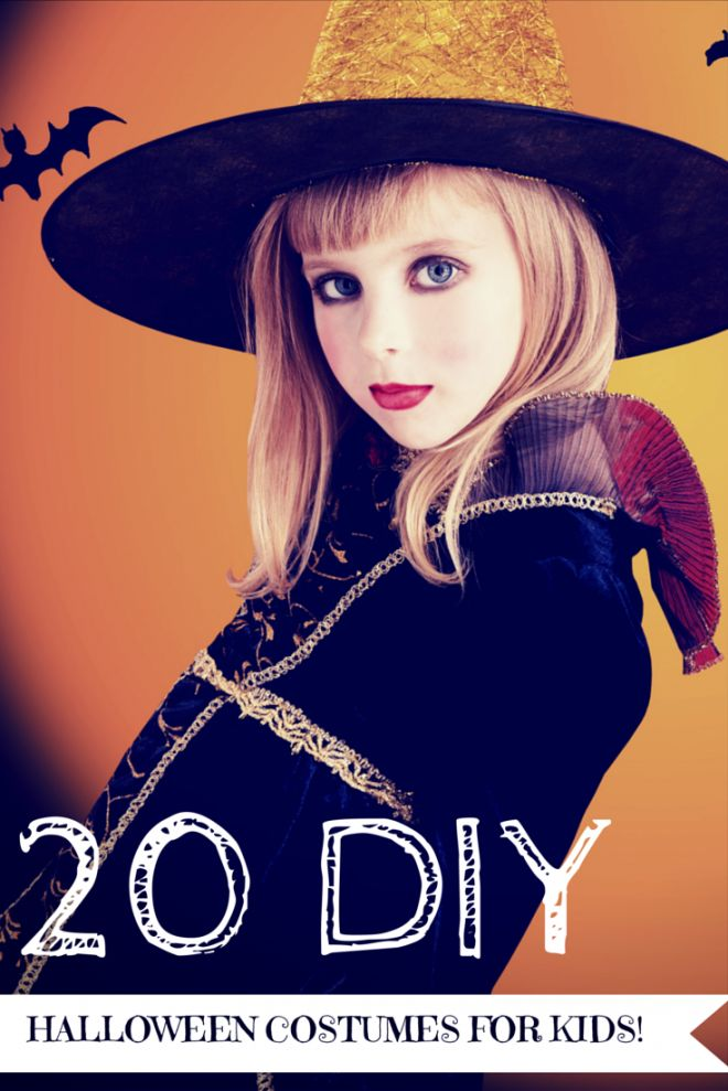 Halloween Costumes - {20 DIY Halloween Costumes for Kids} - This amazing list of DIY Halloween costumes will help you find the perfect homemade costume for your children!
