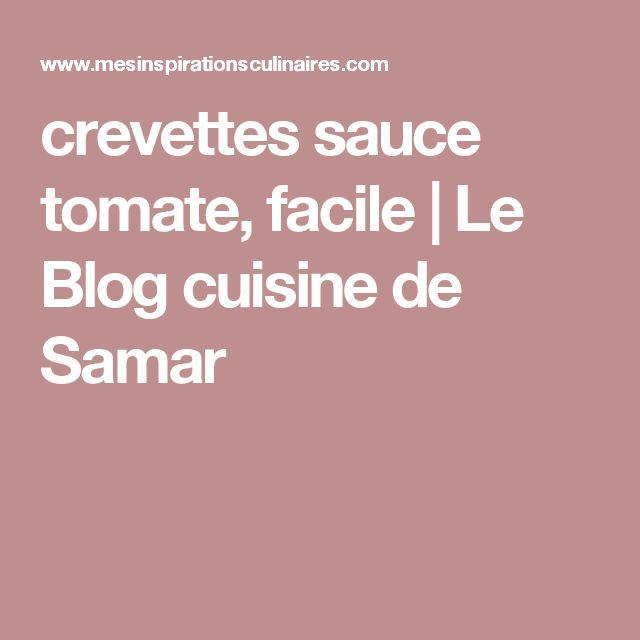 crevettes sauce tomate, facile | Le Blog cuisine de Samar