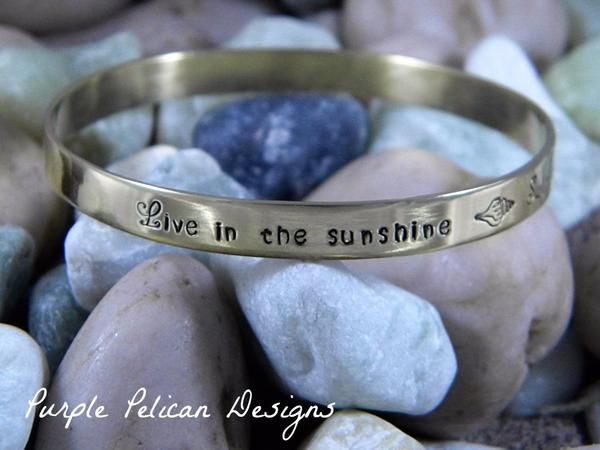 hand stamped jewelry,stamped jewelry,personalized jewelry,custom jewelry,engraved jewelry,hand stamped bangle,gold bangle,custom bangle,emerson,poetry