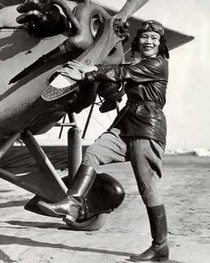 Katherine Sui Fun Cheung, the first Chinese-American woman to be a licensed pilot (1932).