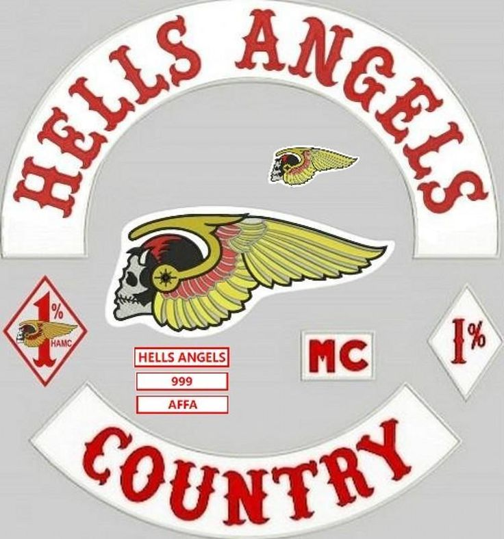 badge hells angels motorcycle original embroidery twill. Black Bedroom Furniture Sets. Home Design Ideas