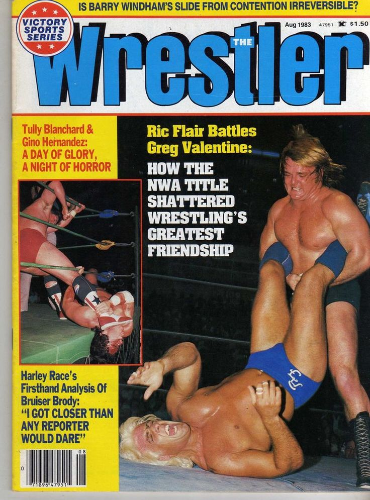 the wrestler august 1983 ric flair harley race gino hernandez (very good) wwe from $16.99