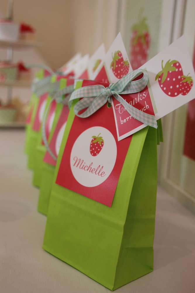 Strawberry Birthday Party Ideas | Photo 6 of 11 | Catch My Party