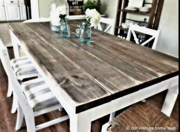 Reclaimed Barn Wood Rustic Tables Diy Dining Room Trendy