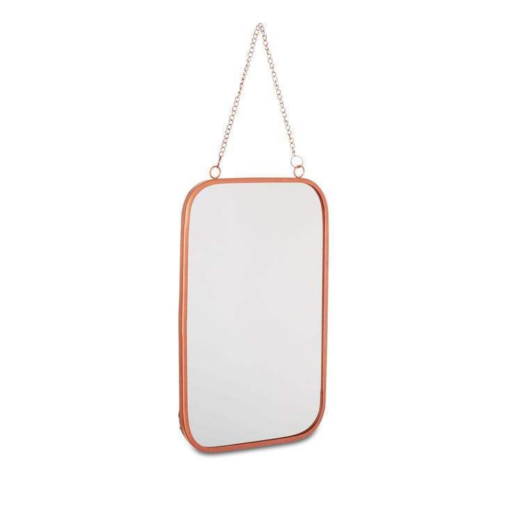 Copper Effect Framed Rectangular Hanging Wall Mirror (H)310mm (W) 200mm   Departments   DIY at B&Q