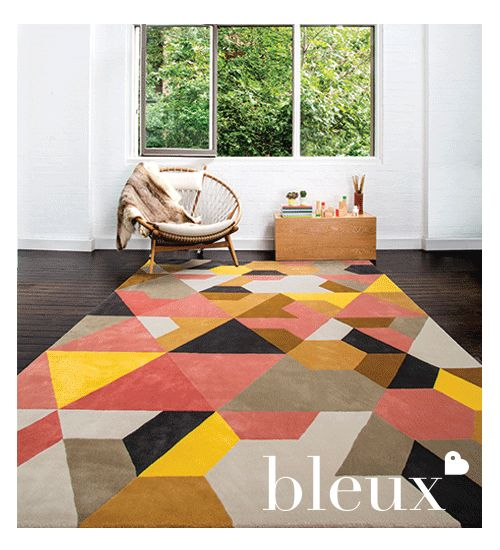 Bleux's Berlin Rug from their 2014 'neighbourhood' Designer Rugs Collection.