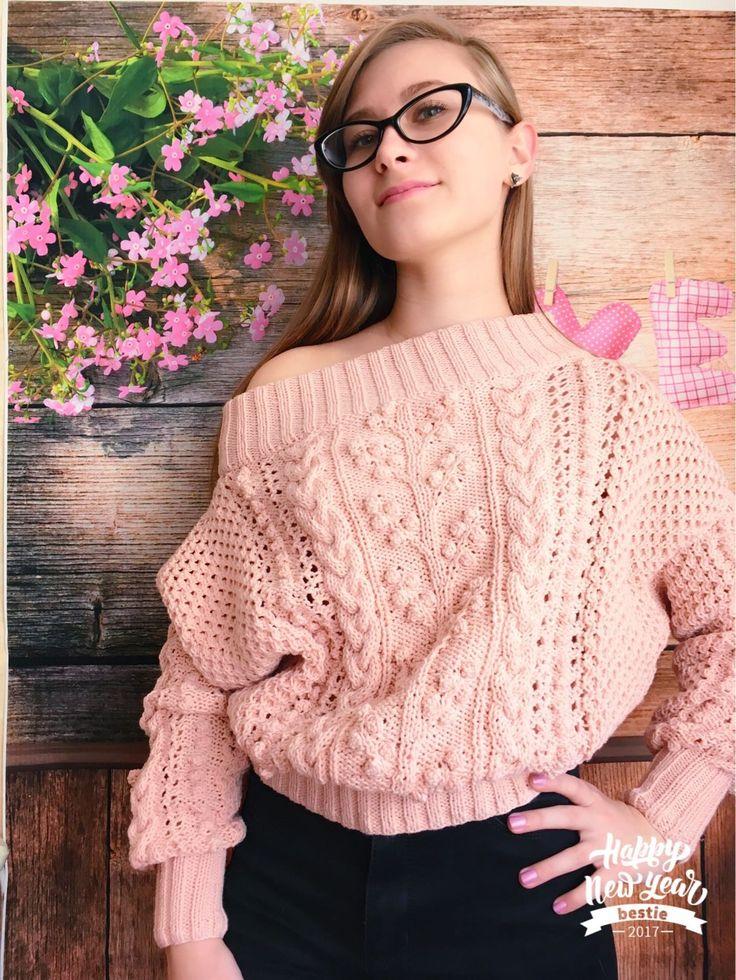 """Купить """"Софи"""" свитер женский вязаный из хлопка - свитер женский вязаный, хлопковый свитер"""