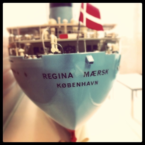 Regina Mærsk. Scale model in the Maersk HQ in Copenhagen.