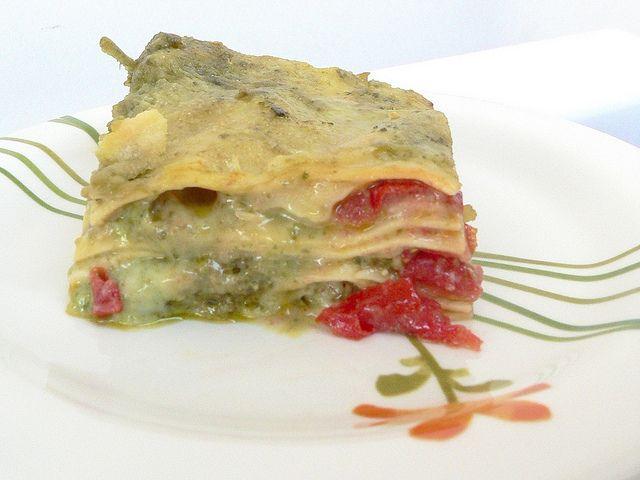 Lasagne con Pesto, Besciamella, Pachino e Mozzarella by RicetteBimby, via Flickr