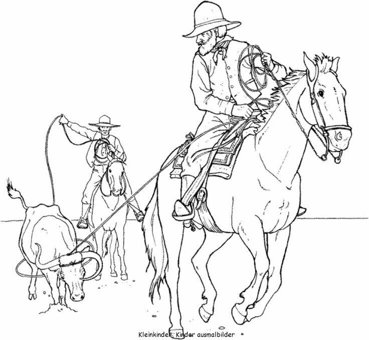 cowboy ausmalbilder  malvorlagen pferde ausmalbilder