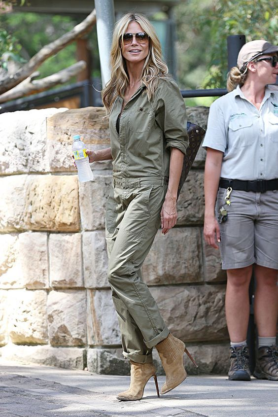 10 Best Outfits from Heidi Klum: #2. Officer in Style