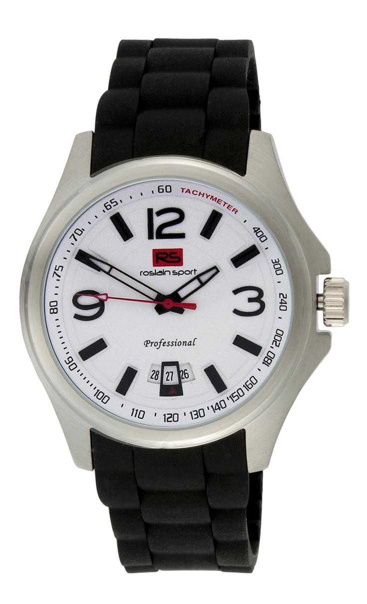 Reloj RS , con caja de acero, calendario, correa de silicona y resistente al agua (3 ATM). Ref. 80.511.013.2    Este RS es un reloj sencillo, cómodo, con una fácil legibilidad y con la máxima calidad: antes 59€ y ahora 49€ http://www.roslain.es