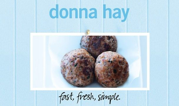 Pork And Fennel Meatballs : Donna Hay Fast Fresh Simple : The Home Channel  http://www.thehomechannel.co.za/pork-and-fennel-meatballs/