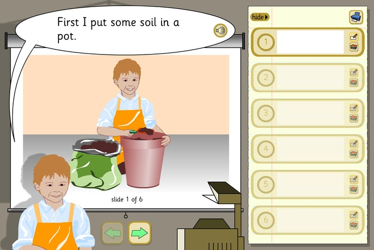 Growing a Bean - presentation: An instruction writing activity, from TES iboard, that moves pupils towards using impersonal or imperative statements.