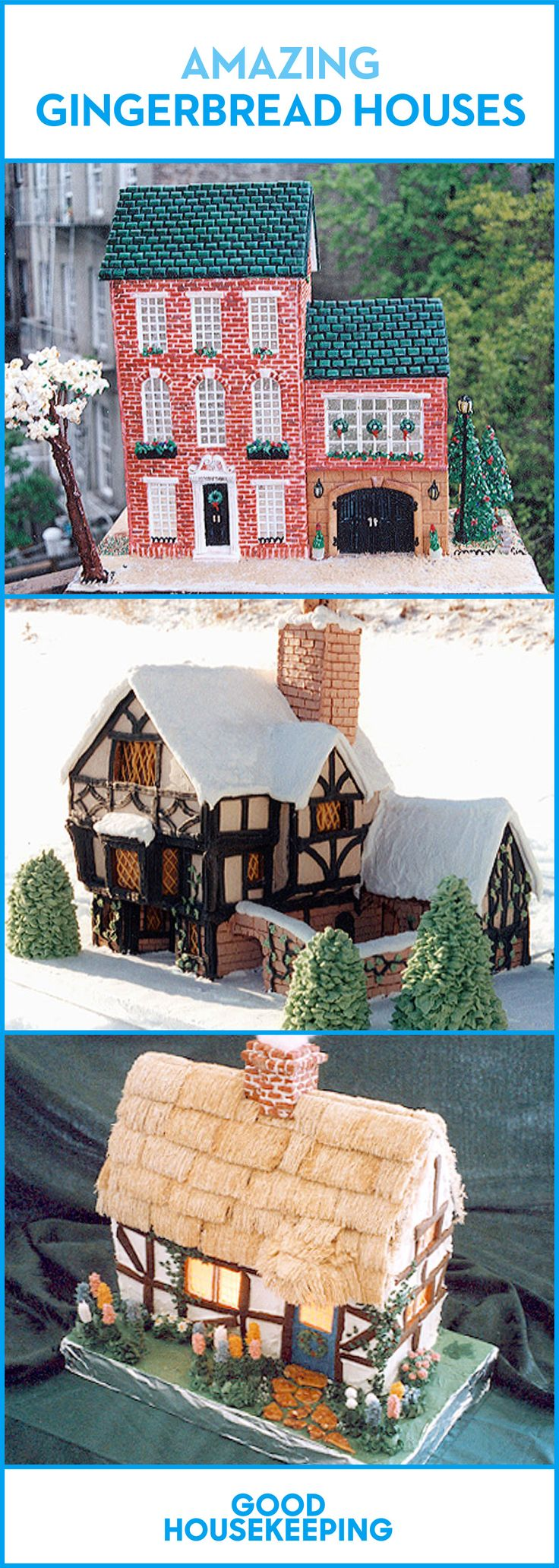 Save these gingerbread house designs for next Christmas!