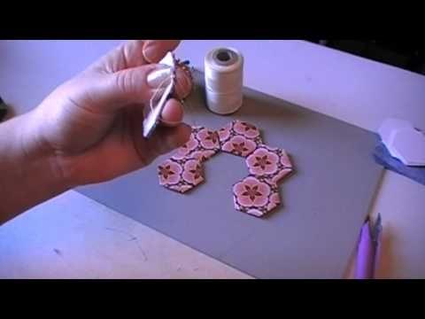 threadbasting hexies (best tutorial I've seen) #hexies #quilting