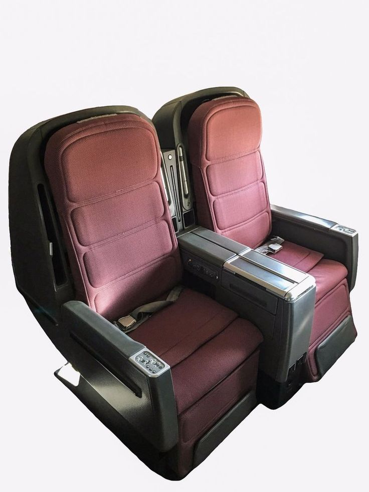 Set of Two Qantas Airlines Boeing 747-400 Burgundy Business Class Pods
