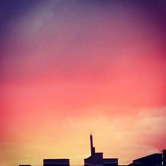 💜#sky #vanillasky #łódź #clouds #pink #sunset
