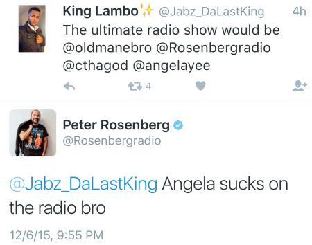 Angela Yee & Peter Rosenberg Exchange Disses On Social Media