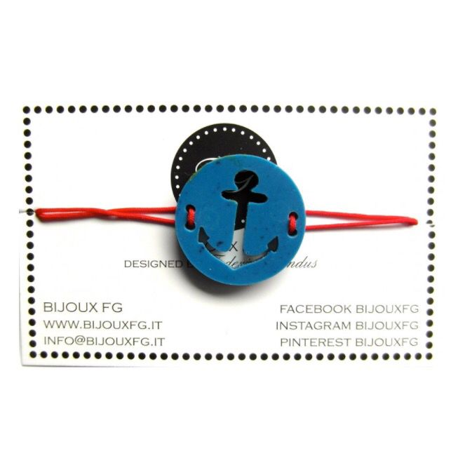 Braccialetto ancora in resina #bijouxfg #bijouxfgaddicted #resinjewelry www.bijouxfg.it