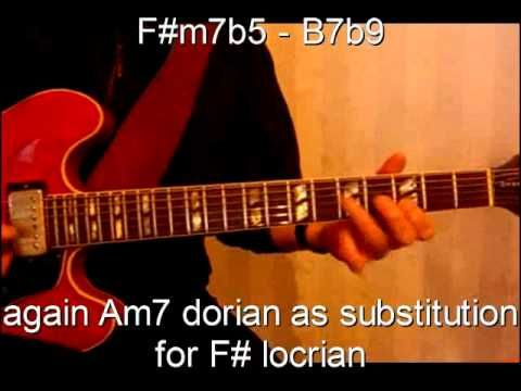 Autumn Leaves jazz guitar improvisation (3) with scale explanations - YouTube