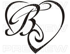 Image result for letter b tattoo fonts