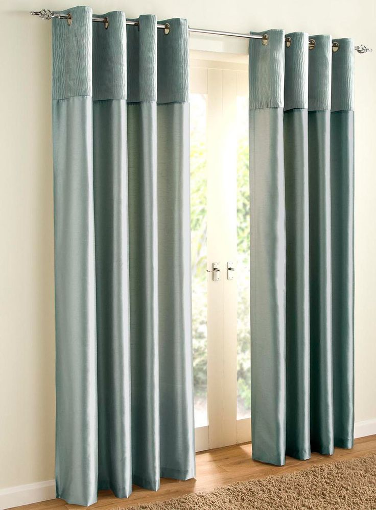 Duck egg blue curtains