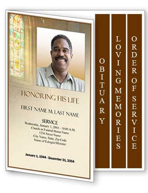 Free Template For Funeral Program Captivating 11 Best Funeral Programs Images On Pinterest