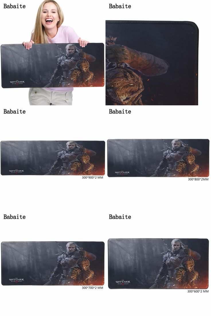 [Visit to Buy] Babaite Sale Alfombrilla Raton New Large Pad To Mouse The Witcher 3 Wild Hunt Game Notbook Computer Mousepad Gaming Mats Gamer  #Advertisement