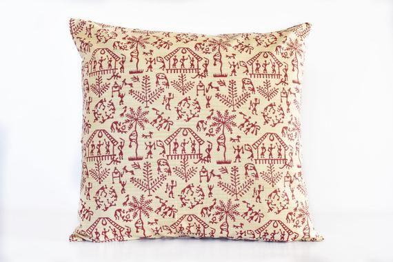 Tribal throw pillow pink Summer pillow