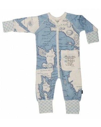 Bambus klær til barn og baby Pysjamas Over Sjø og Land