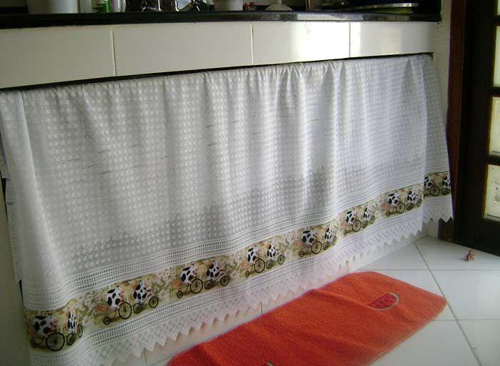 cortinas prontas para pia de cozinha