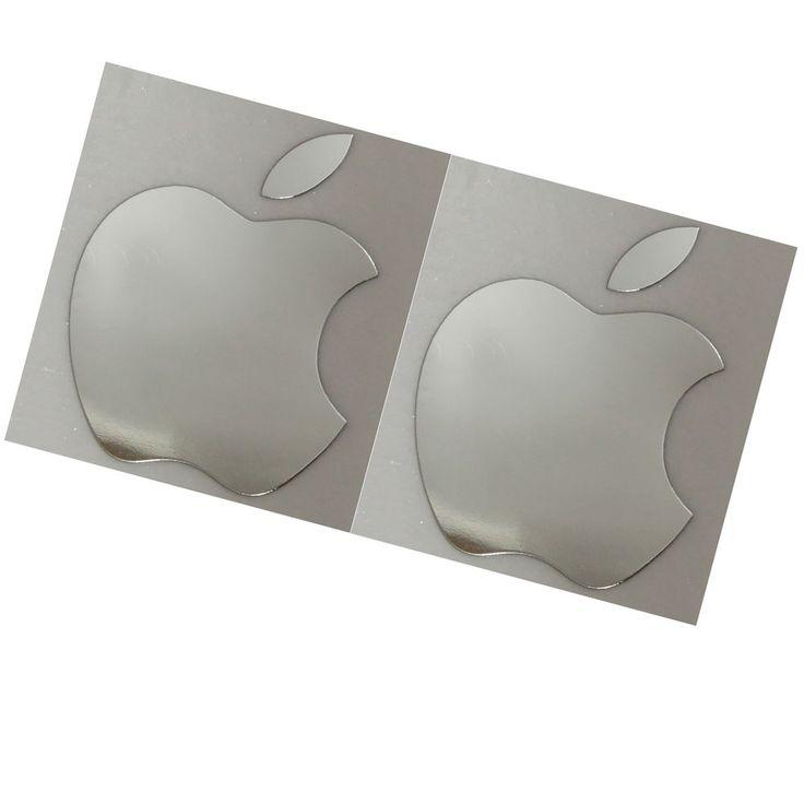 2x apple logo chrome metal sticker for iphone 6 plus 6s 5 5c