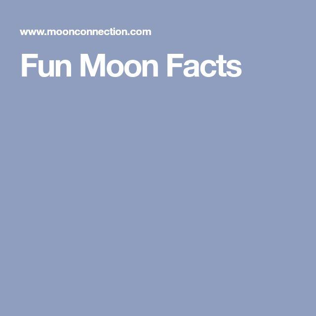 Fun Moon Facts