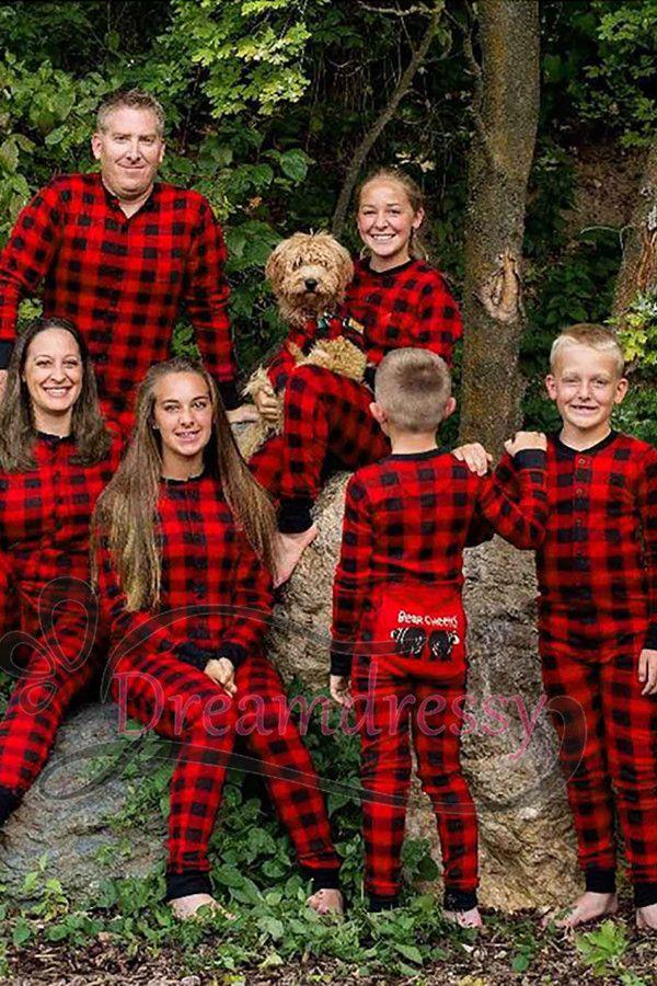 Family Christmas Pajamas 2019.Cozy Red And Black Gingham Pajamas Tina Formal Dresses