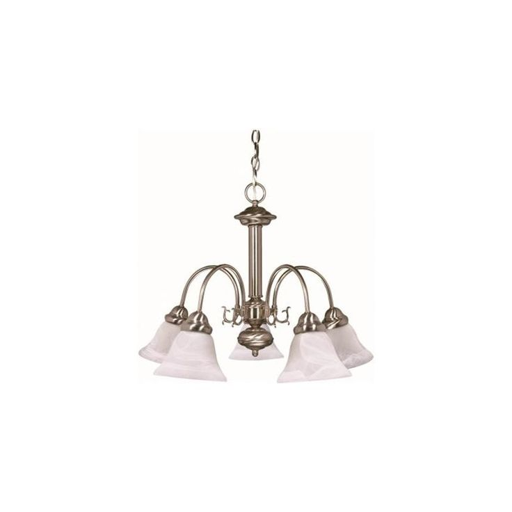 NUVO® BALLERINA TRANSITIONAL CHANDELIER, BUSHED NICKEL