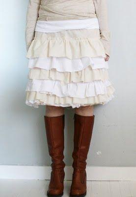 I <3 skirts. I <3 homemade things. I <3 you, if you make me a skirt like this.