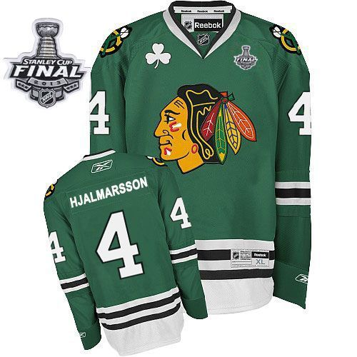 Niklas Hjalmarsson jersey-80% Off for Reebok Niklas Hjalmarsson Authentic  Men's Stanley Cup Finals Jersey - NHL Chicago Blackhawks #4 Green from  official ...