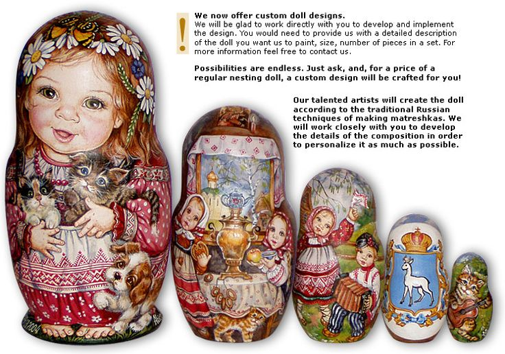 Original gift idea! Authentic Russian nesting dolls with your child's (grandchild's) face painted on it. Also; if the child is adopted from another country - the national costume of that country can be painted on the doll. Not cheap, but extra special.