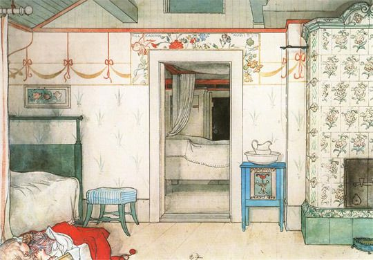 Sweet Swedish Dreams:  The Bedrooms of Carl Larsson - Apartment Therapy