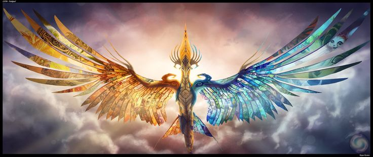 Tradigital - The wings that helped me fly. by Kayas-Kosmos on DeviantArt