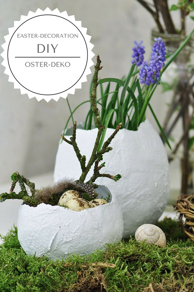 [DIY]: Deko-Eier zum Bepflanzen für den Ostertisch