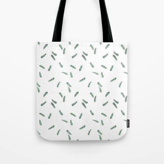 dark green ferns Tote Bag