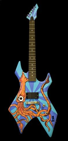 Unique guitars #oneofakind #handpainted #electric #guitar