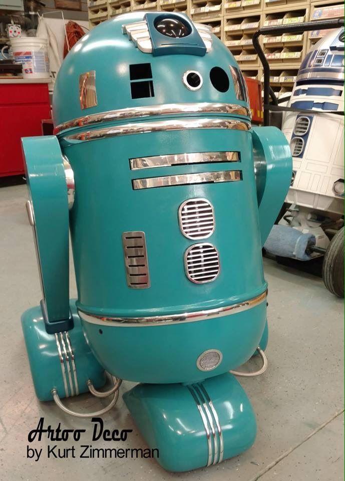 "adulthoodisokay: "" vintagegeekculture: "" Kurt Zimmerman's mid-century modernist R2-D2. "" OMFG """