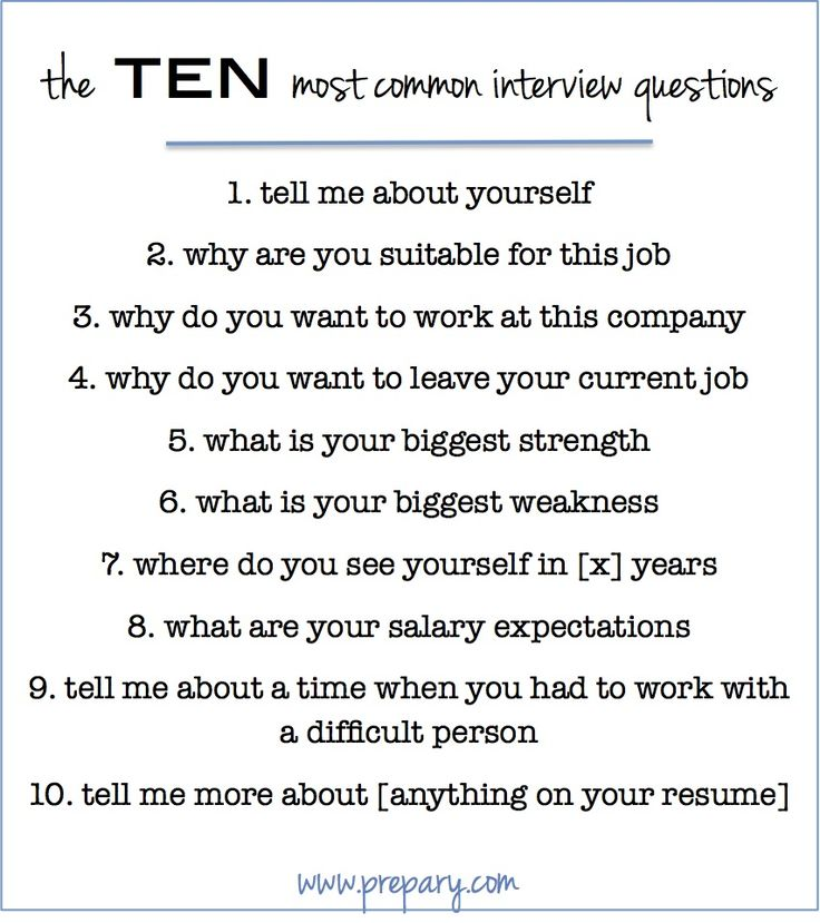 25 best ideas about Top Ten Interview Questions on